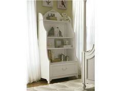 Decorate your little princess' bedroom with the marvelous and majestic smartstuff Gabriella Bookcase. This fabulously functional bookcase features 4 open shelves for storage, 1 drawer, and a back that is wire and plug-in accommodating. Kitchen Bookcase, Kids Bookcase, White Bookshelves, Bookcases, Kids Playroom Furniture, Baby Furniture, Kids Rooms, Play Kitchen Sets, Ana White