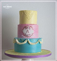 © Mary Das, Cake Thérapie Princess themed buttercream cake.