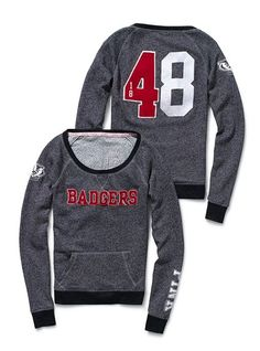 victoria's secret does adorable Badger game apparel.