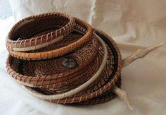 Amazing OOAK handwoven pine needle basket by TwistedandCoiled, $195.00