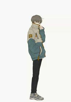 Calm and Cool Boy Illustration, Character Illustration, Anime Style, Character Concept, Character Art, Estilo Anime, Boy Art, Anime Art Girl, Aesthetic Anime