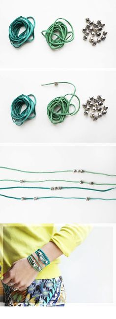 misanthropy creations: 11 DIY Bracelets. Check out these awesome DIY Bracelet ideas!