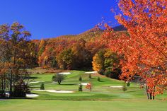 Mount Mitchell Golf Club, with Mt. Mitchell in the background - NC