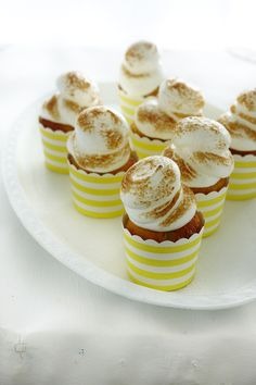 coconut passionfruit cupcakes with meringue frosting