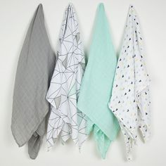 Baby Muslin Swaddle - 4 Pack - Six Degrees