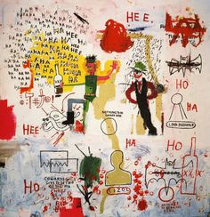 Jean-Michel Basquiat, Riddle Me This, Batman, 1987.