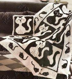 CARAMELO DE CROCHET: duerma con gatitos