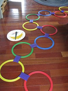 Musical Twister Hopscotch