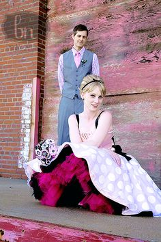 Love this fun look!  For funky brides or for bridal party
