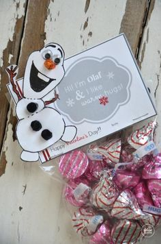 Olaf printable Valentine #frozen, #valentine