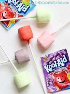 Kool Aid marshmallow pops