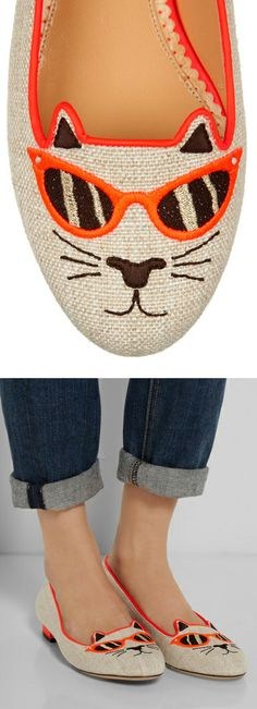 Kitty shades flats // hilarious!