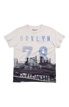 Primark - White New York Skyline T-Shirt