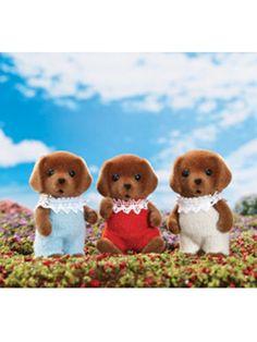 Plush, posable pets! Calico Critters Chocolate Labrador Triplets