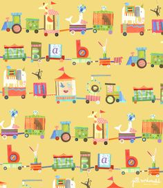 Baby Train Print by Jill McDonald Design
