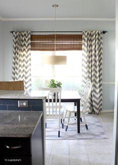 Home Interior Decoration Ideas Rustic Curtains, Kitchen Curtains, Farmhouse Curtains, Elegant Curtains, Country Curtains, Cool Ideas, Chevron Curtains, Long Curtains, Window Curtains