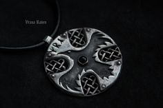 Viking raven cross