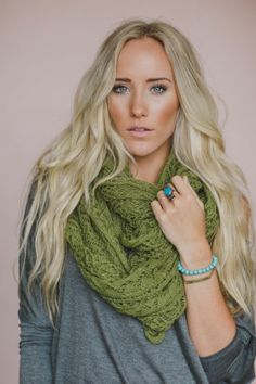 Lace Knitted Loop, Infinity Scarf, Fashion Knitted Scarf, Spearmint Green, Women's Fashion Scarves for Fall, Baby it's COLD outside and we're cuddling up in this