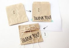 How to Print on Paper Bags DIY - easy peasy!