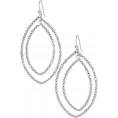 Stella & Dot Bardot Hoop Earrings--Silver as seen on Peyton Lambton of HGTV's Going Yard http://www.stelladot.com/denikaclay
