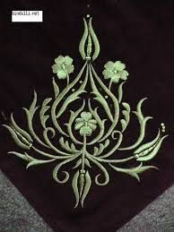 This Pin was discovered by Naz Gold Embroidery, Embroidery Needles, Machine Embroidery Patterns, Embroidery Applique, Quilt Patterns, Embroidery Designs, Gold Work, Bargello, Cutwork
