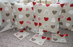 cushions with hearts