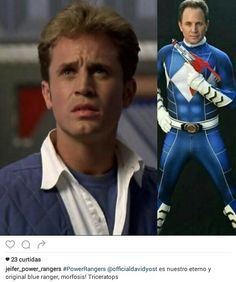David Yost ranger eterno...! Power Rangers 1995, David Yost, Collage Vintage, Mighty Morphin Power Rangers, Collages, Pin Up, Posters, Icons, Culture
