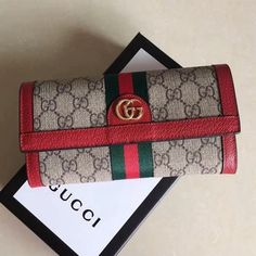 Gucci Ophidia GG Continental Wallet 523153 cmBeige/ebony GG Supreme canvas, a material with low environmental impact, with leather trimGreen and red WebGold-toned hardwareDouble GTwelve card slots and two bill compartmentsZip Gucci Wallet Sale, Gucci Sale, Handbags On Sale, Luxury Handbags, Designer Handbags, Designer Bags For Less, Fab Bag, Shopping Chanel, Purses