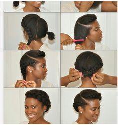 Simple Natural Hair Do