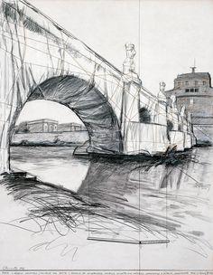 Ponte S. Angelo Wrapped (Project for Ponte S. Angelo at Longotevere Castello, Longotovere Vaticano, Longotevere D. Altoviti, Longotevere Tore di Nona) Roma