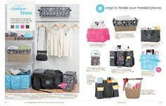 If your a Organizing freak here is some great stylish ways to organize your Closet etc. order from www.mythirtyone.com/wag
