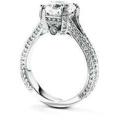 CLICK HERE TO VIEW http://www.diamondsbyshelly.com/Products/481-diamond-engagement-ring.aspx Custom Made Diamond Engagement Ring (Call for Price) #Diamonds #EngagementRing #DiamondRing #Wedding #Engagement #DiamondsByShelly