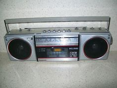 Panasonic RX-F5 Ambience Portable AM/FM Stereo Cassette Recorder~Needs Repair