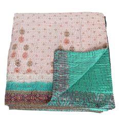 kantha silk sari blanket sitala_fair trade bangladesh