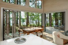 Tomahawk Lake Residence on Behance Farmhouse Architecture, Residential Architecture, Interior Architecture, Shed Homes, Prefab Homes, Tiny Homes, Modern Small House Design, Shed House Plans, Modern Bungalow House