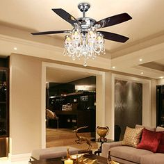 Find More Information about New arrival crystal ceiling fan light fashion antique triple 52 f682 2 ceiling fan lights fan lamp light fan,High Quality fans black,China fan computer Suppliers, Cheap fans fashion from Angel Tears  lighting Co.,Ltd. on Aliexpress.com