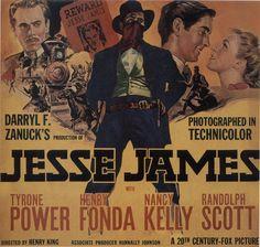 Jesse James, with Tyrone Power and Henry Fonda, 1939
