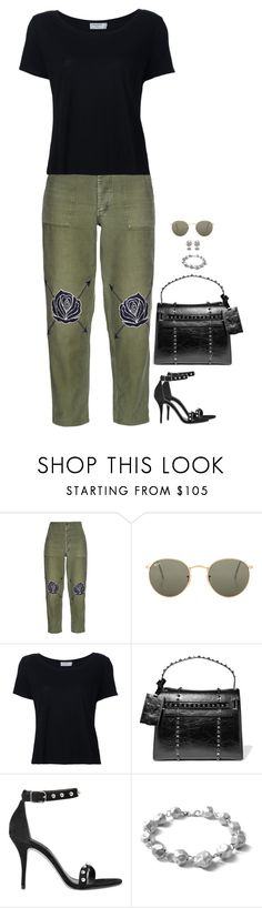 """Untitled #5990"" by miki006 ❤ liked on Polyvore featuring Bliss and Mischief, Ray-Ban, Frame, Valentino, Alexander Wang and Chen Fuchs Jewelry"