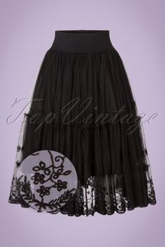 b38552b294d721 Dancing Days by Banned First Sight Skirt with Black Lace rok zwart kant