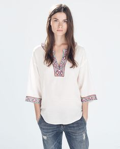 ZARA - COLLECTION AW14 - EMBROIDERED TUNIC