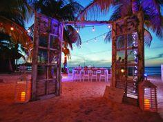 Destination Weddings on Aruba. Divi resorts wedding. Bohemian wedding reception. Sunset wedding. Wedding dinner on beach. Vintage wedding ideas. Rustic wedding decor. Aruba wedding. island wedding.