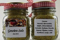 Butterbrotsalz (recipe with picture) by Spice Rub, Spice Mixes, No Salt Recipes, Cooking Recipes, Kitchen Queen, Austrian Recipes, Party Buffet, Seasoning Mixes, Kitchen Gifts