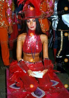 Cher at the circus, 1974.