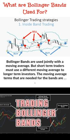 Bollinger Bands are used together with a moving average. But short term traders will need to use a different moving average to longer term investors. The numbers that you need for the bands are . Trading Quotes, Intraday Trading, Online Trading, Implied Volatility, Stock Trading Strategies, Bollinger Bands, Forex Trading Tips, Stock Charts, Moving Average