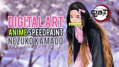 Digital Art Speedpaint Anime - Nezuko Kamado from Kimetsu No Yaiba