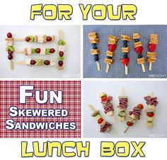 """Breathe new life into """"same old"""" sandwiches by making lunch kabobs."""