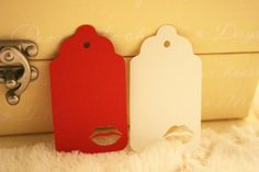 Lip Gift Tags  Perfect for Weddings or by SillyLoveSongCustoms