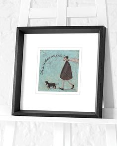 The Art Group Sam Toft A Sneaky One Canvas Print Multi-colour Cotton 1.8 x