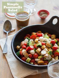 A recipe for Simple Panzanella Salad.