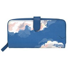 Clouds Large Boxed Leather Trim Wallet   View All   CathKidston